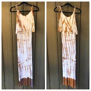 Loveappella Tie Dye Maxi Dress